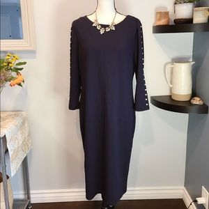 Shein navy long sleeve dress